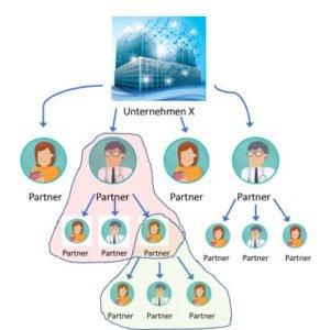 Struktur Vertrieb 3 Ebenen